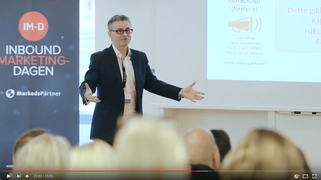 Morten Frøid på Inbound Marketing-Dagen 2016
